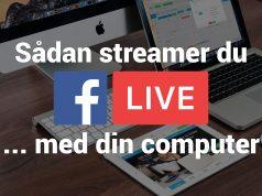 Facebook Live fra en computer